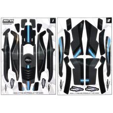 Качественные виниловые наклейки (Черные) для Blade 350 QX