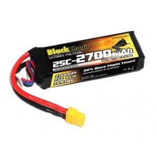 Литий-полимерный аккумулятор LiPo 3S 11.1V 2700mAh 25C (XT60 Plug)