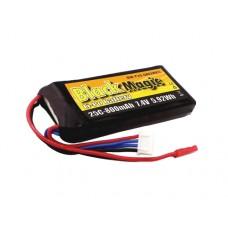 Литий-полимерный аккумулятор LiPo 2S 7.4V 800mAh 25C (JST Plug)