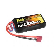 Black Magic LiPo 3S 11.1V 1300mAh 25C (Deans Plug)