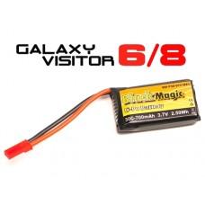 Black Magic LiPo 1S 3.7V 700mAh 30C for Visitor 6/8