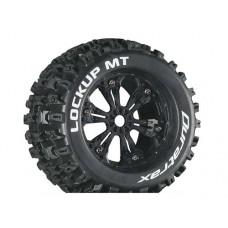 Disc. Duratrax Lockup MT 3.8 w/6-Spoke Wheels (Black) 12mm Offset