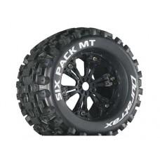 Disc. Duratrax Six Pack MT 3.8 w/6-Spoke Wheels (Black)