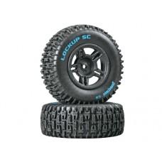 DuraTrax Lockup SC Tire C2 w/5-Spoke Wheels (Black)