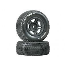 DuraTrax Shotgun SC Tire C2 w/5-Spoke Wheels (Black)