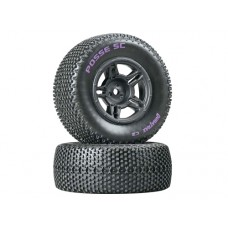 DuraTrax Posse SC Tire C2 w/5-Spoke Wheels (Black)