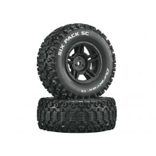 Duratrax Six Pack SC C2 w/5-Spoke Wheels (Black)