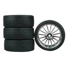 Dynamite 16-Spoke Chrome Wheel, Radial (4)
