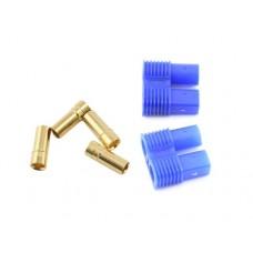Позолоченные разъемы EC3 (мама) в пластиковом корпусе