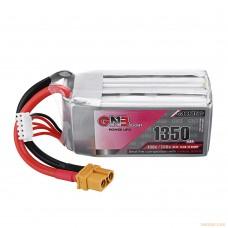 Литий-полимерный аккумулятор для гоночных квадрокоптеров GNB LiPo 4S 14.8V 1350mAh 130C (XT-60)