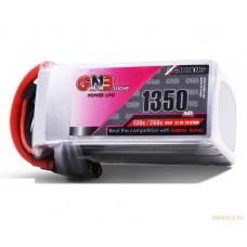 Литий-полимерный аккумулятор для гоночных квадрокоптеров GNB LiPo 6S 22.2V 1350mAh 130C (XT-60)