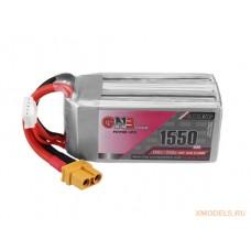 Литий-полимерный аккумулятор для гоночных квадрокоптеров GNB LiPo 4S 14.8V 1550mAh 130C (XT-60)