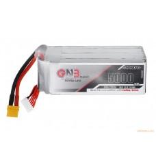 Литий-полимерный аккумулятор GNB 6S 22.2V 5000mAh 50C (XT-90) для моделей 1:10 - 1:8 масштабов