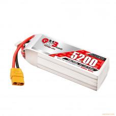 Литий-полимерный аккумулятор GNB 4S 14.8V 5200mAh 110C (XT-90S) для моделей 1:10 - 1:8 масштабов