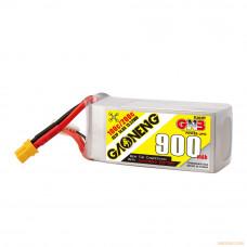 Литий-полимерный аккумулятор для гоночных квадрокоптеров GNB LiPo 4S 14.8V 900mAh 100C (XT-30)