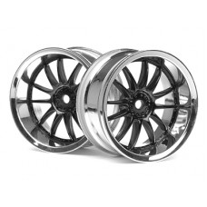 HPI Racing Work XSA O2C Wheel 26mm (Chr/Black) 3mm Offset