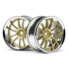 HPI Racing Work XSA O2C Wheel 26mm (Chr/Gld) 3mm Offset