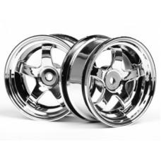 HPI Work Meister S1 Wheel 26mm (Chrome) 3mm Offset