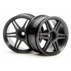 HPI 12-Spoke Corsa Wheel 26mm (Black) 3mm Offset