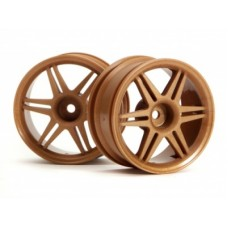 HPI 12-Spoke Corsa Wheel 26mm (Gold) 3mm Offset