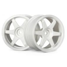 HPI TE37 Wheel 26mm (White) 3mm Offset