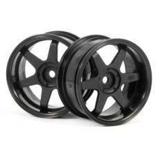 HPI TE37 Wheel 26mm (Black) 6mm Offset