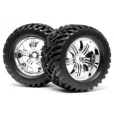 HPI Mounted Goliath Tire on Tremor Chrome Wheel
