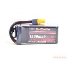 Infinity 4S 14.8V 1300mAh 110C Race Spec Graphene LiPo Battery