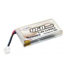 Литий-полимерный аккумулятор 2S 7.4V 450mAh 35C для Blade 130 X