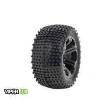Disc. MedialPro Viper 2.8 w/Addict 2.8 Wheels (Black) Rear EP