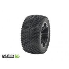 Disc. MedialPro Matrix 2.8 w/Addict 2.8 Wheels (Black) Rear EP