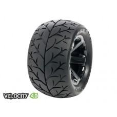 Disc. MedialPro Velocity 4.0 Tires w/XD Bully 4.0 Wheels (Black)