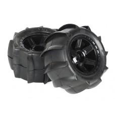 ProLine Sling Shot 3.8 Tire w/Desperado 17mm, 12mm Offset (Black)