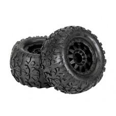 ProLine Rock Rage 3.8 Tire w/F-11 17mm, 12mm Offset (Black)