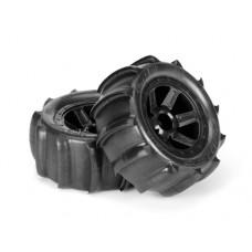ProLine Sling Shot 2.2 Tire w/Desperado Wheels (Black) for 1/16 E-Revo