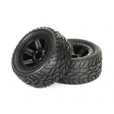 ProLine Dirt Hawg 2.2 Tire w/Desperado Wheels (Black) for 1/16 E-Revo