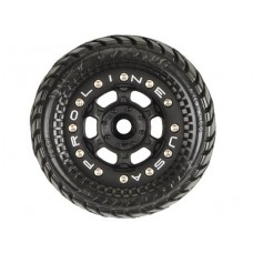 ProLine Dirt Hawg 2.2 Tire w/Beadloc Wheels for 1/16 E-Revo
