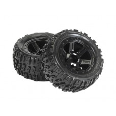 ProLine Trencher 2.2 Tire w/Desperado Wheels (Black) for 1/16 E-Revo
