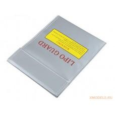 Огнеупорный мешок для зарядки и хранения литий-полимерных аккумуляторов (180x230мм)