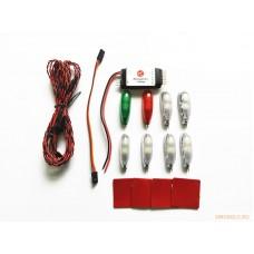 Комплект навигационных огней для моделей самолетов (Advanced Version) (6 режимов)