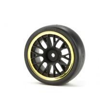 Tamiya Mesh Wheels 24mm (Black/Gold) 2mm Offset