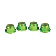 Traxxas Aluminum 4mm Nuts (Green)