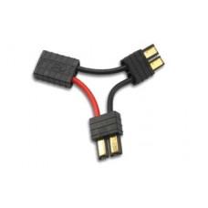 Переходник для последовательного подключения двух аккумуляторов с разъемами Traxxas