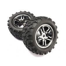 Traxxas Tires/Wheels SS Black Chrome (2) 17mm Hex