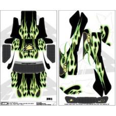 UPgrade Tribal Flame Kit (Green/Black) for Traxxas Slash/Slayer
