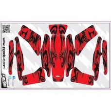 Upgrade RC Kabuki Skin (Red) for Blade 200 QX
