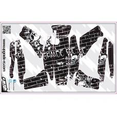 Качественные виниловые наклейки Skull Skin (Черные) для Blade 200 QX