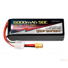 Литий-полимерный аккумулятор 6000mah 6S 50C