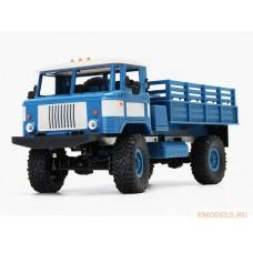 Модель грузовика ГАЗ-66 с постоянным полным приводом (синий)