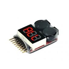 Lipo Battery Voltage Tester w/Low Voltage Alarm Buzzer